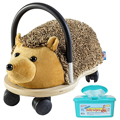 [Wheely Bug Hodgehog Plush Push/Scoot Ride On Toy for Kids, Large with Hypoallergenic Baby Wipes] (Ride On Elephant Costume)