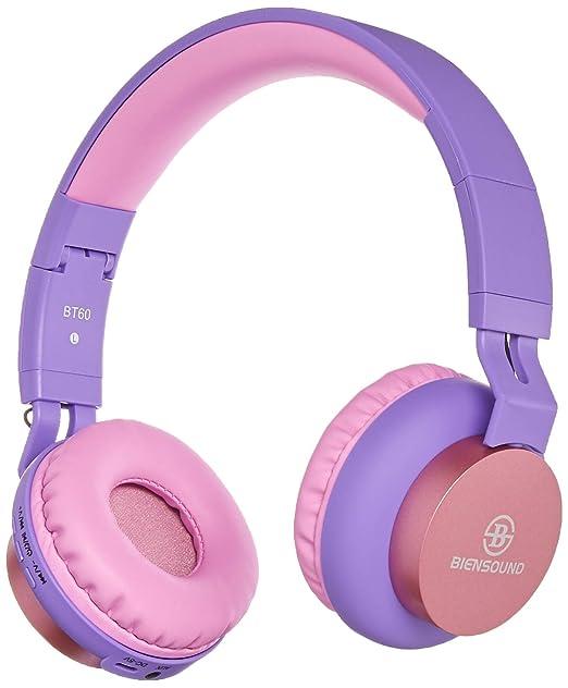 Auriculares Bluetooth, biensound BT60 ligero plegable auriculares inalámbricos Bluetooth auriculares con micrófono y Control de