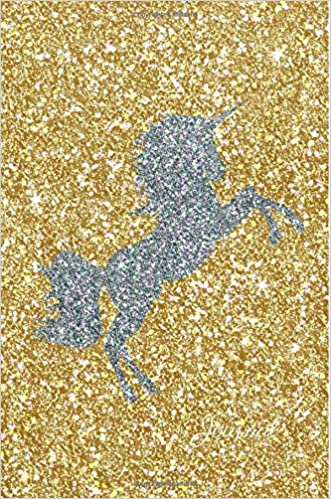 Amazon.com  Journal  Silver Unicorn Gold Faux Glitter Lined Paper Dairy  Notebook  395b1ee45ce1