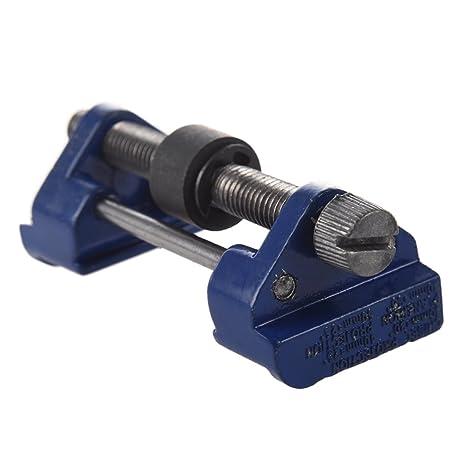 Afilador - SODIAL(R)Guia de afilado de Metal Plano de madera y Plano Afilado Cincel Hierro Cepilladora Herramienta de cuchillas Azul