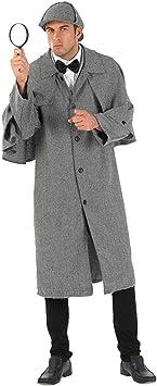 Fun Shack Gris Detective Victoriano Disfraz para Hombres - L ...