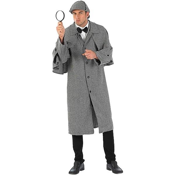 Fun Shack Gris Detective Victoriano Disfraz para Hombres - M ...