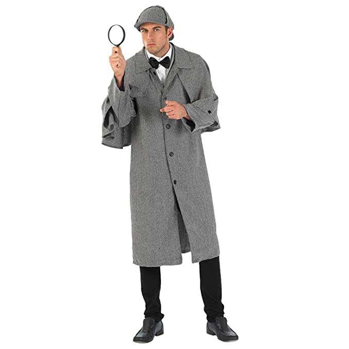Victorian Men's Clothing, Fashion – 1840 to 1900 fun shack Mens Victorian Detective Costume Adults Historical Book Day Coat & Hat $49.99 AT vintagedancer.com