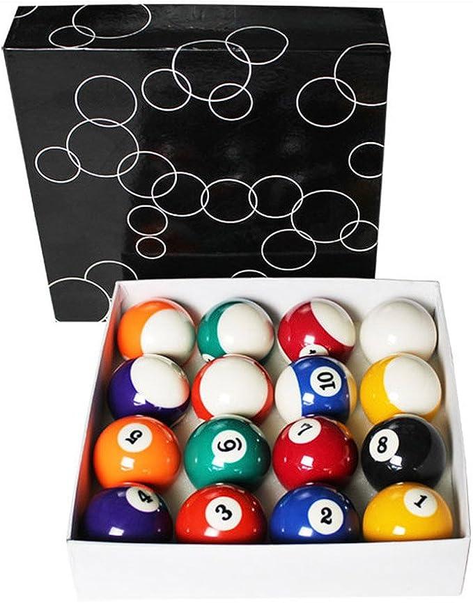 Vasens Juego de bolas de billar para mesa de billar de piscina, diseño de números artísticos de precisión, juego completo de 16 bolas de 6,35 cm, 5,08 cm, bola de billar, Small