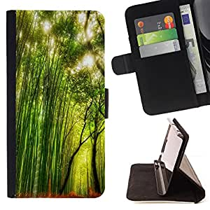 For Samsung Galaxy S3 Mini I8190Samsung Galaxy S3 Mini I8190 - Plant Nature Forrest Flower 66 /Funda de piel cubierta de la carpeta Foilo con cierre magn???¡¯????tico/ - Super Marley Shop -