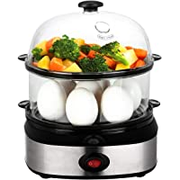 PowerDoF Double Tier ZDQ-702A Electric Multi Function Egg Cooker with Food Steamer