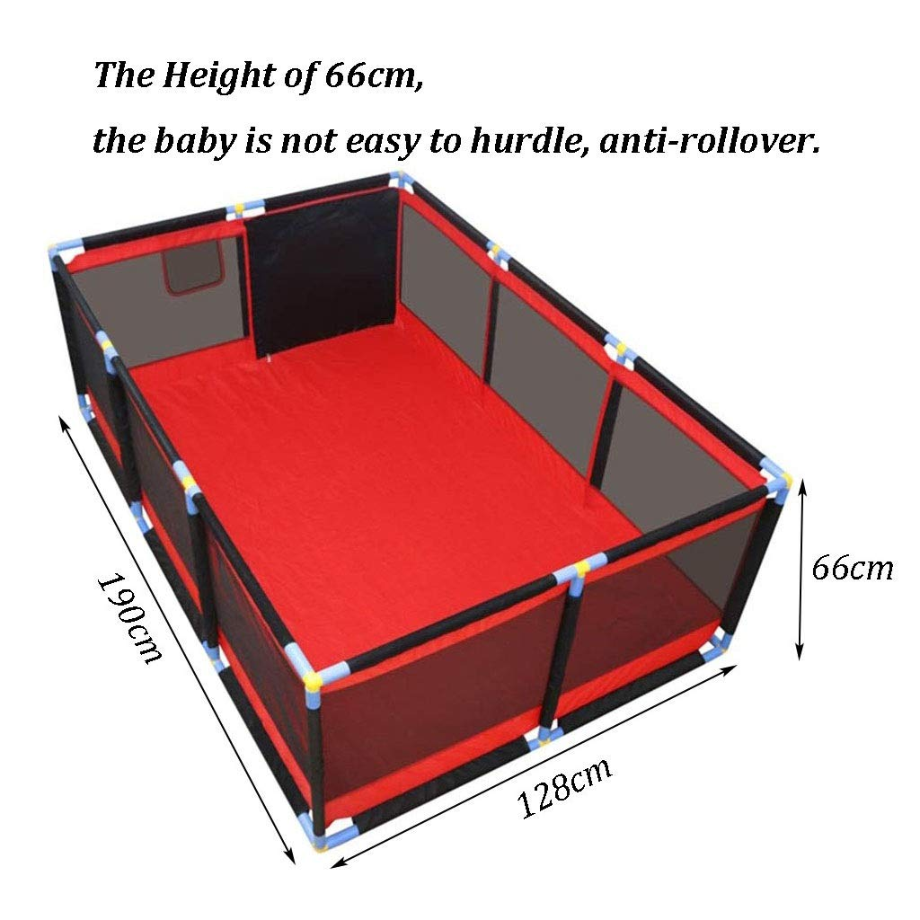 10-Panel Baby Playpen Toddler Play Pen with Crawling Mat, Kid's Safety Activity Center, Extra Large 190x128x66cm