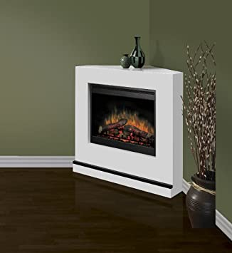 Dimplex Contemporary Covertable Corner Electric Fireplace in White: Amazon.co.uk: Kitchen & Home