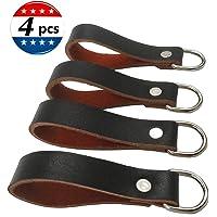 XJunion Suspender Loop Attachment Set-Heavy Duty Leather Tool Belt Accessories (Suspender Loop Attachment 4-Pack) (black)