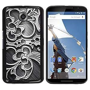 PC/Aluminum Funda Carcasa protectora para Motorola NEXUS 6 / X / Moto X Pro Wallpaper Pattern Floral Design Art Decoration / JUSTGO PHONE PROTECTOR