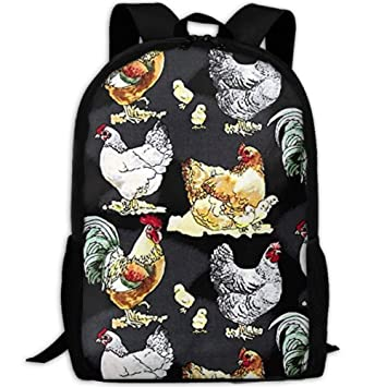 070285751ffb Amazon.com | Canvas Hen Rooster Cock House Barnyard Laptop Backpack ...
