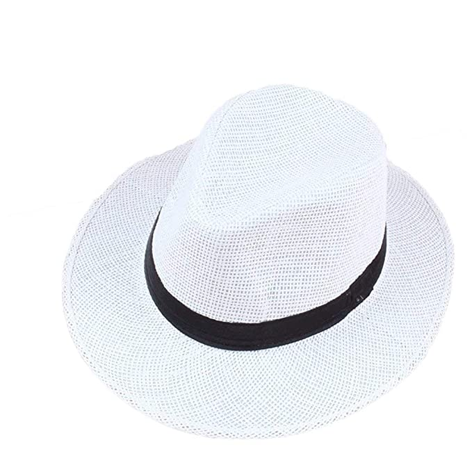 BoBoLily Primavera Y Verano Sombrero De Paja Sombrero De Vaquero Sombra  Exterior Sombrero De Especial Estilo 8c9b6ed276d