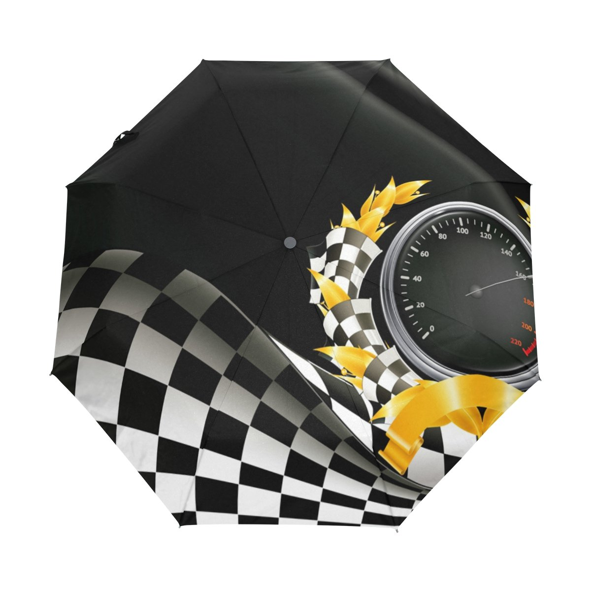 deyya Racing背景カスタム折りたたみ式太陽雨傘Wind Resistant防風折りたたみトラベル傘 B0757N7C2D