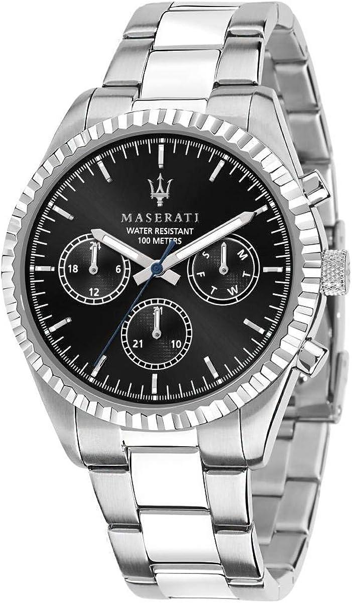 Maserati Reloj para Hombre, Colección Competizione, en Acero Inoxidable, con Correa de Acero Inoxidable - R8853100023