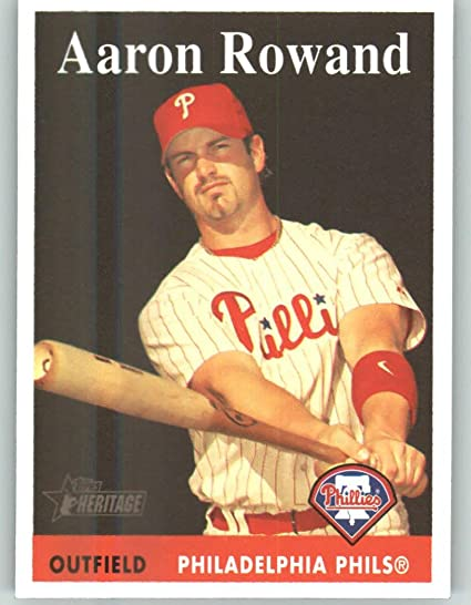 2007 Topps Heritage #387 Aaron Rowand Philadelphia Phillies Baseball Cards