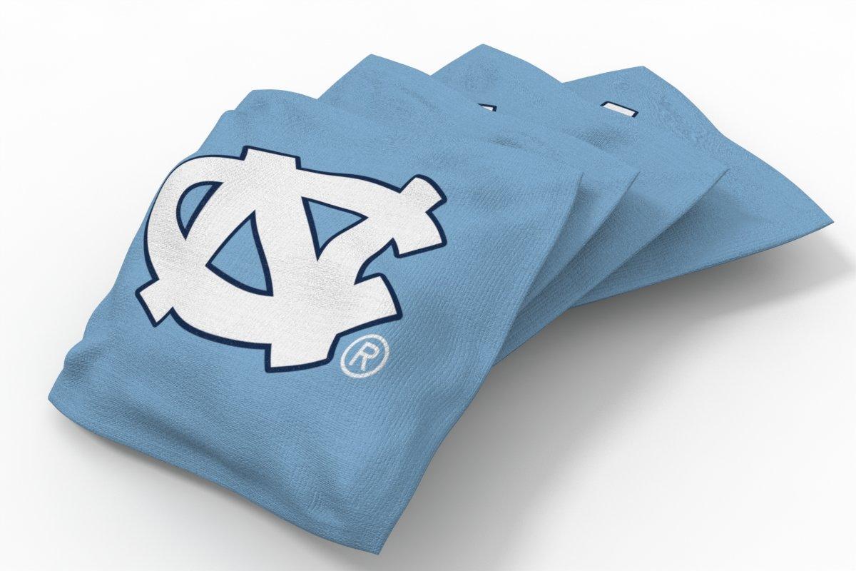 Wild Sports NCAA College North Carolina Tar Heels Blue Authentic Cornhole Bean Bag Set (4 Pack)