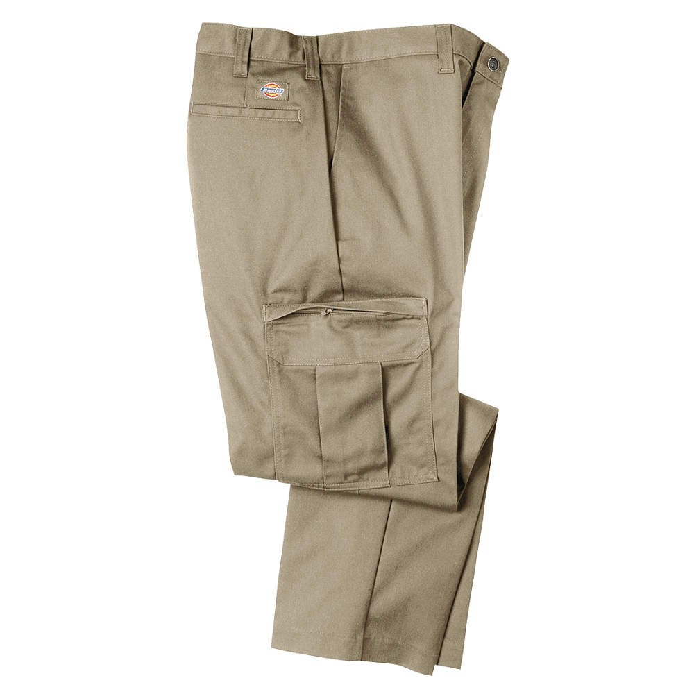 Dickies Occupational Workwear 2112372DS 40x32 Polyester/Cotton Relaxed Fit Men's Premium Industrial Cargo Pant with Straight Leg, 40 Waist Size, 32 Inseam, Desert Sand 40 Waist Size 32 Inseam