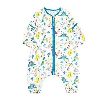 Saco de Dormir Nido Camisones Combinado Algodón Gasa Algodón para Dividir Las piernas Bolsa de Dormir para el bebé Recién Nacido Kick-Proof Edredón: ...