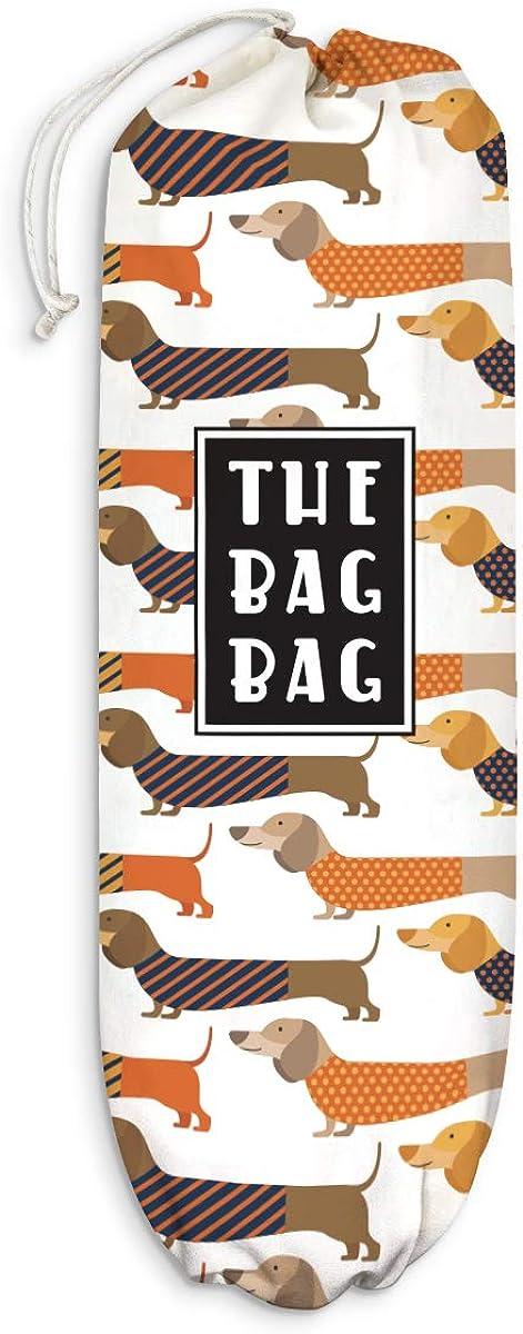 Dachshund Plastic Bag Holder Grocery Shopping Bags Carrier Storage Organizer Dispenser, Home Kitchen Bathroom Farmhouse Decor, Gift for Dog Lover, Hostess, Housewarming, Thanksgiving, Christmas