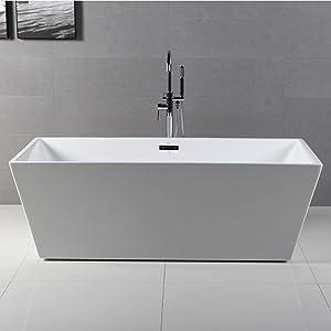 FerdY 59'' Acrylic Freestanding bathtub