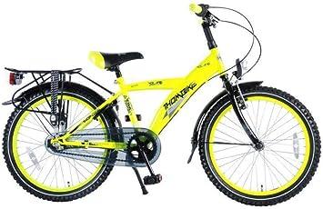 Bicicleta Niño 20 Pulgadas Thombike City con Shimano Nexus de 3 Velocidades y Portaequipajes Trasera Amarillo Fosforescente 95% Montada: Amazon.es: Deportes y aire libre
