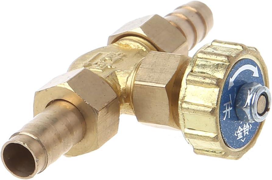 suoryisrty Elbow Brass Needle Valve 10mm Propane Butane Gas Adjuster Barbed Spigots 1 Mpa