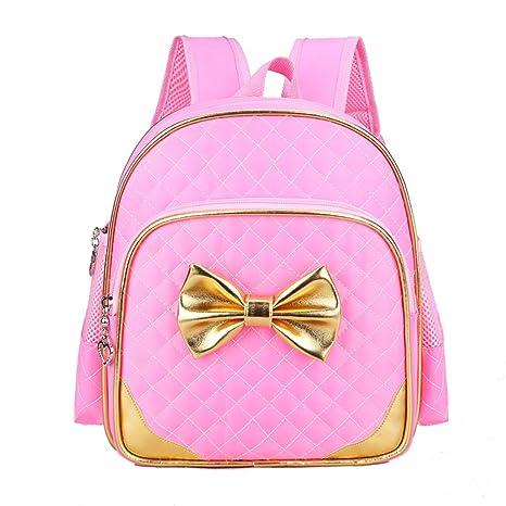 54b8b908ac Moonwind Bow Waterproof Kindergarten Kids Toddler Backpack Girls School  Book Bag (Pink)  Amazon.co.uk  Luggage