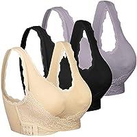 iClosam Sujetador Deportivo Encaje Mujer(1/2/3pack) Bra Push Up con Almohadillas Extraíbles para Yoga/Fitness/Ejercicio…