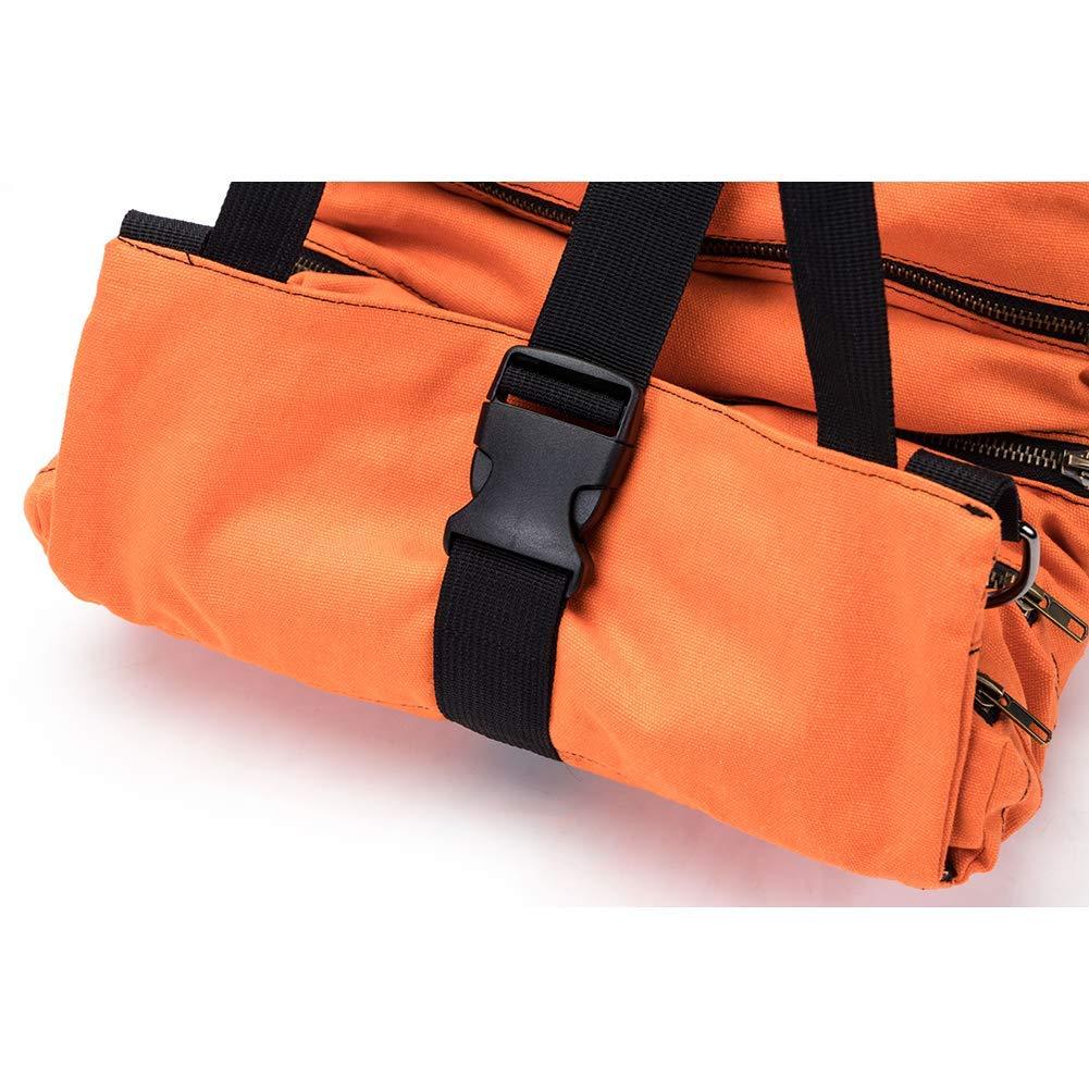 HVAC Werkzeugtasche mit 5 Rei/ßverschlusstaschen khaki Zimmermann oder Mechaniker strapazierf/ähig Klempner f/ür Elektriker