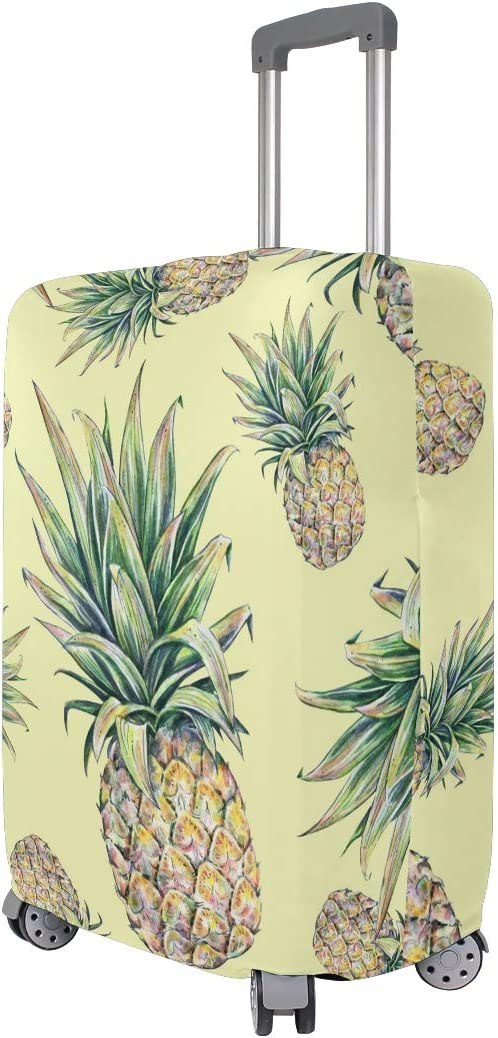 Luggage Cover Travel Elastic Fits 26-28 Inch Zip Art Pattern Original Pineapple Suitcase Protector