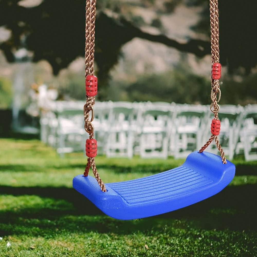 Bleu Balan/çoire /à Suspendre Ext/érieur Jardin avec Corde R/églable Charg/é Maximum 100kg Windyeu Balan/çoire en Plastique Si/ège Enfant