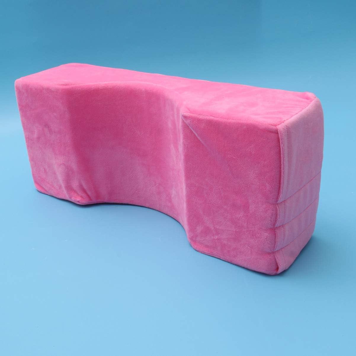 SUPVOX Grafted Eyelash Extension Pillow Memory Curve Contour Salon Pillow Pink