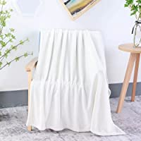 Ultra Soft Double Sided Microfiber Polyester Blanket for Extra Warmth in Bed, Luxury Light Weight Flannel Throw Perfect…