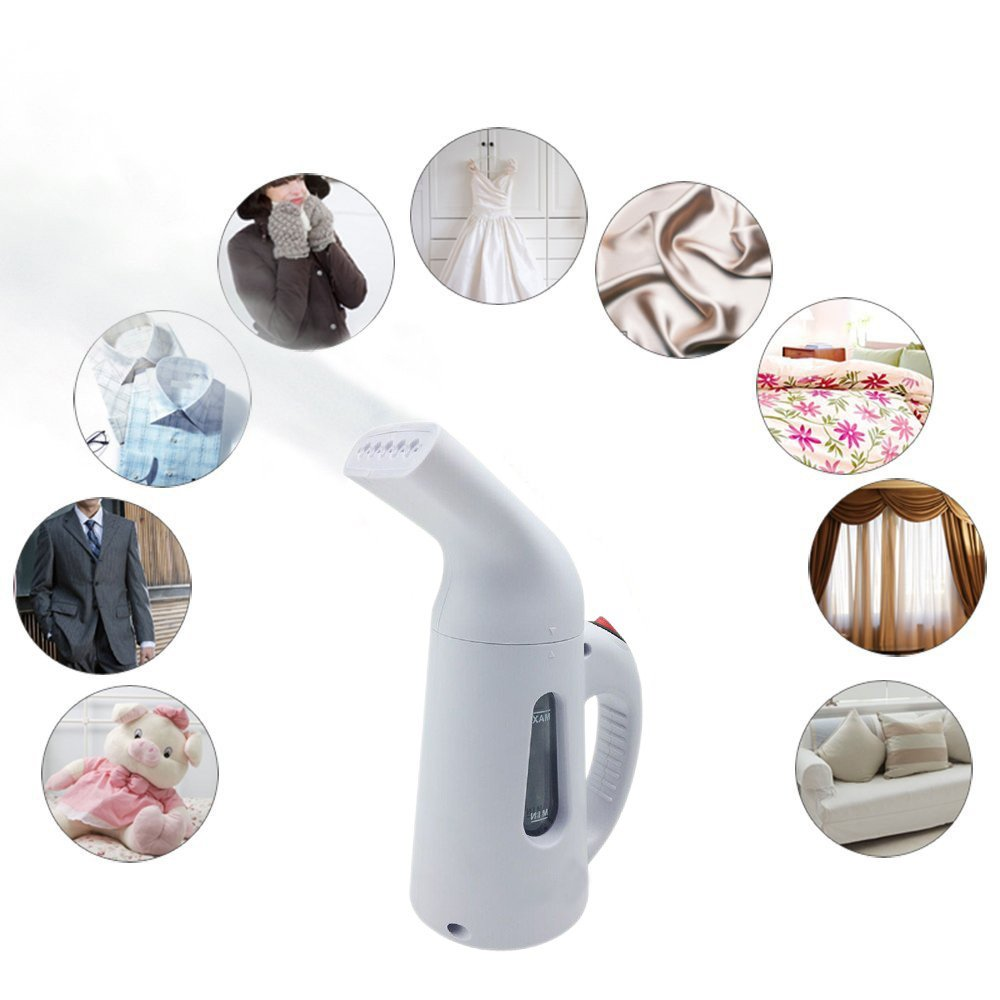 Hilifeone Garment Steamer, Portable Handheld Mini Wrinkle Remover Fast Heat-Up Fabric Clothes Steamer for Linen Shirts Bedding Suits Curtains When at Home or Travel (White) by Hilifeone (Image #6)