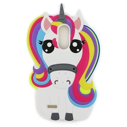LG Aristo Case,LG Phoenix 3 Case,LG LV3 Case,LG K8 2017 Case,LG Fortune Case,LG Risio 2 Case.LG K4 2017 Case,Awin 3D Cute Cartoon Rainbow Unicorn ...
