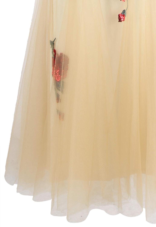 Angel-fashions Da donna Una spalla Floreale Paillettes Sirena Lungo Abito da sera