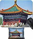 MSD Mouse Wrist Rest and Small Mousepad Set, 2pc Wrist Support design 26966672 llect photo of the pavilion roof in the forbidden city in Beijing China stylized