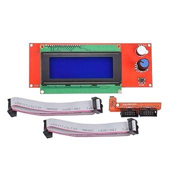 KINGPRINT LCD 2004 - Módulo controlador gráfico con adaptador y ...