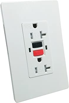 LASockets GFCI Wall Outlet with Plates