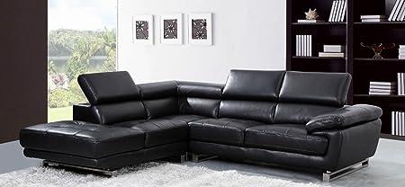 Leather Sofa World Sofá rinconera Izquierda de Piel Valencia ...