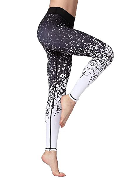 FLYILY Mallas Deportivas Mujer Pantalones impreso Leggings Deportes para Running Yoga Fitness Gym