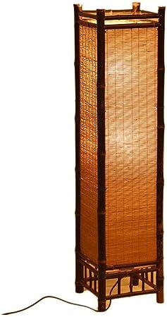 Lvhayon - Lámpara de pie de bambú hecha a mano para jardín, lámpara de pie estilo japonés, lámpara de tatami de la sala de estar lámpara de bambú, Small: Amazon.es: Hogar