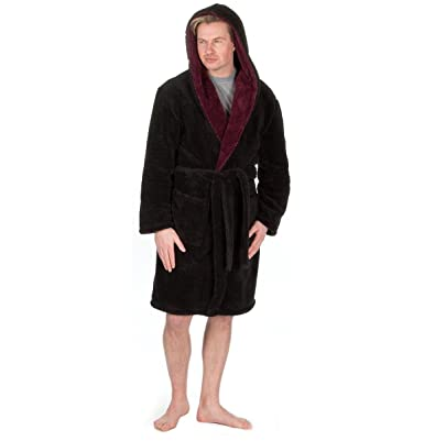 Set Pack Mens Hooded Soft Snuggle Dressing Gown with Puma socks ...