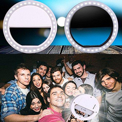 Lampara Aro con luz Led Para Celular Con Clip Y/o Selfie (NEGRO)