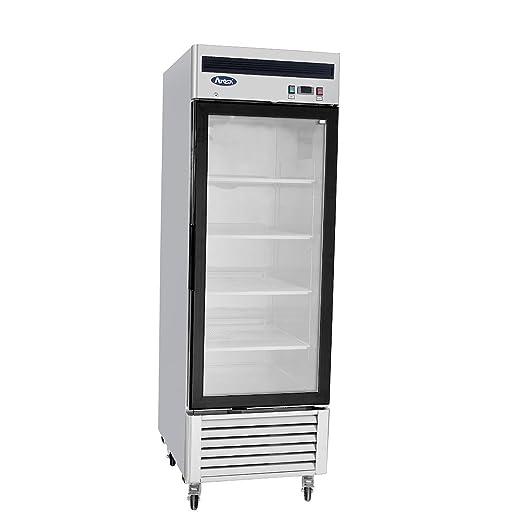 Congelador de puerta de vidrio comercial, 1 unidad: Amazon.es ...
