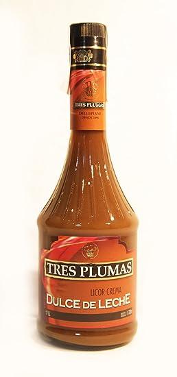 Licor de Dulce de Leche TRES PLUMAS. 700 ml