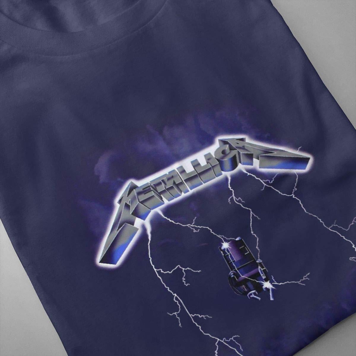 SHENGN Man Design Sweaty Metallica Short Sleeve Humor T-Shirt Black