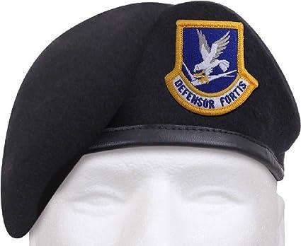 Amazon com : Midnight Navy Blue Defensor Fortis Beret US Air