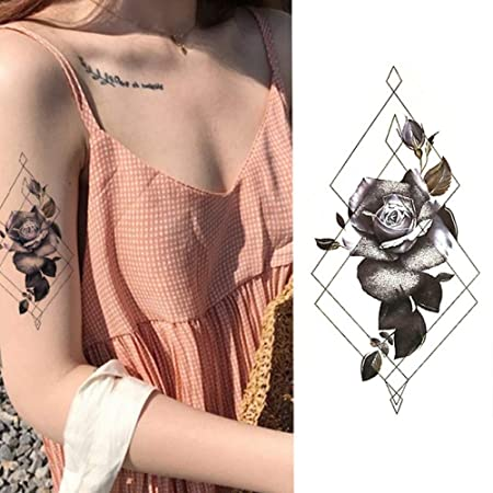Handaxian Floral 3pcs Acuarela Muslo Cuerpo Hombro Tatuaje en la ...
