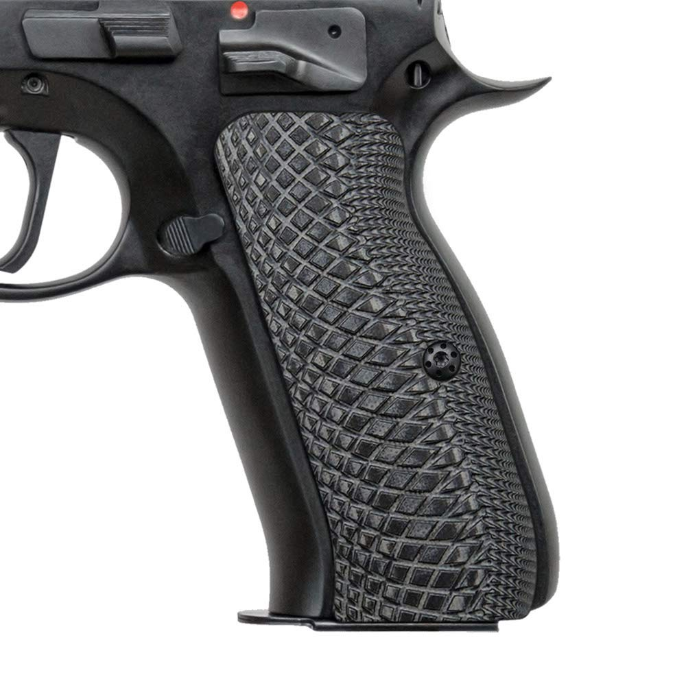EXEL CZ 75 H6-2-5 Gun G10 Grips, Full Size, Grey/Black by EXEL